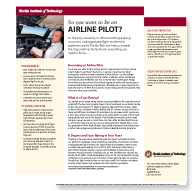 Airline Pilot Training Brochure