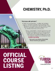 Coursework for phd in chemistry